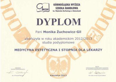 Dyplom ukończenia studiów podyplomowych GWSH
